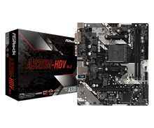 ASRock 슈퍼 합금 A320M HDV R4.0 데스크탑 마더 보드 PC AM4 소켓 DDR4 SATA3, 울트라 M.2 USB 3.1 VGA HDMI Micro ATX