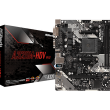 ASRock Super Alloy A320M-HDV R4.0 Desktop Motherboard PC AM4 Socket DDR4 SATA3, Ultra M.2 USB 3.1 VGA HDMI Micro-ATX