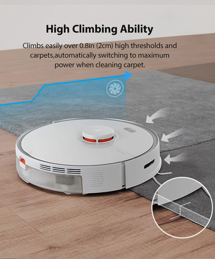 H566b692372564298a45002bab6e9d717w 2020 New Arrival Roborock S5 Max Robot Vacuum Cleaner Xiaomi Mijia S5max cordless for home upgrade of S50 S55 collect pet hairs