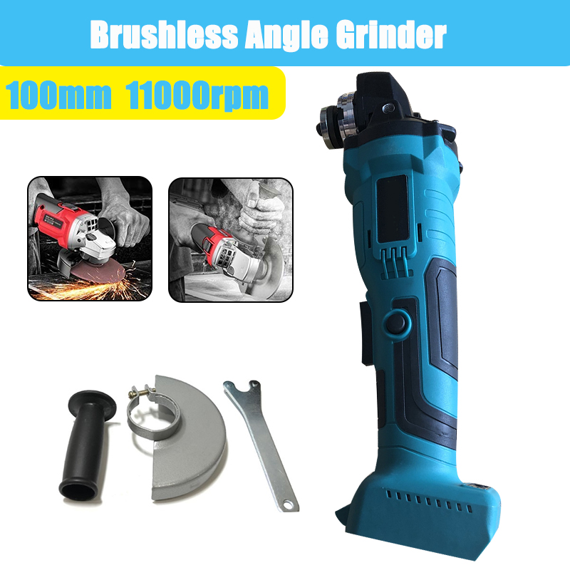 18V 800W 100mm Brushless Cordless Impact Angle Grinder without battery DIY Power Tool Cutting Machine Polisher Fr Makita Battery