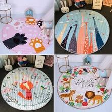 Креативный мягкий ковер, Мультяшные животные, лиса, детские игровые коврики, ползающий ребенок, одеяло, ковер, сумка для хранения игрушек, украшение для детской комнаты