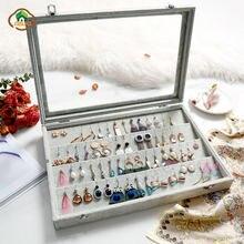 Msjo органайзер для ювелирных изделий бархатный ящик хранения