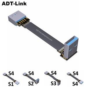 Image 1 - Cáp USB 3.0 Dẹt Nối Dài Cáp Nam Đến Nữ Cáp Dữ Liệu Góc USB3.0 Mở Rộng Dây Cho Máy Tính, TV cáp USB Nối Dài