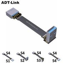 USB 3.0 케이블 플랫 USB 연장 케이블 남성 여성 데이터 케이블 직각 USB3.0 연장 코드 PC TV USB 연장 케이블