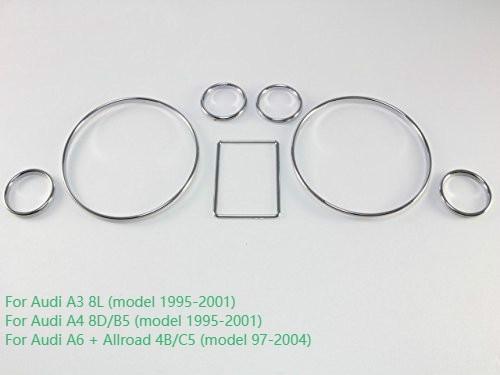 Chrome Snelheidsmeter Gauge Dial Ring Instrument Panel Ring Fit Voor Audi A3 8L A4 8D B5 A6 4B C5