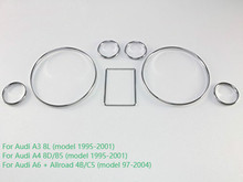 Velocímetro cromado, instrumento con timbre, anillo de Panel compatible con Audi A3, 8L, A4, 8D, B5, A6, 4B, C5