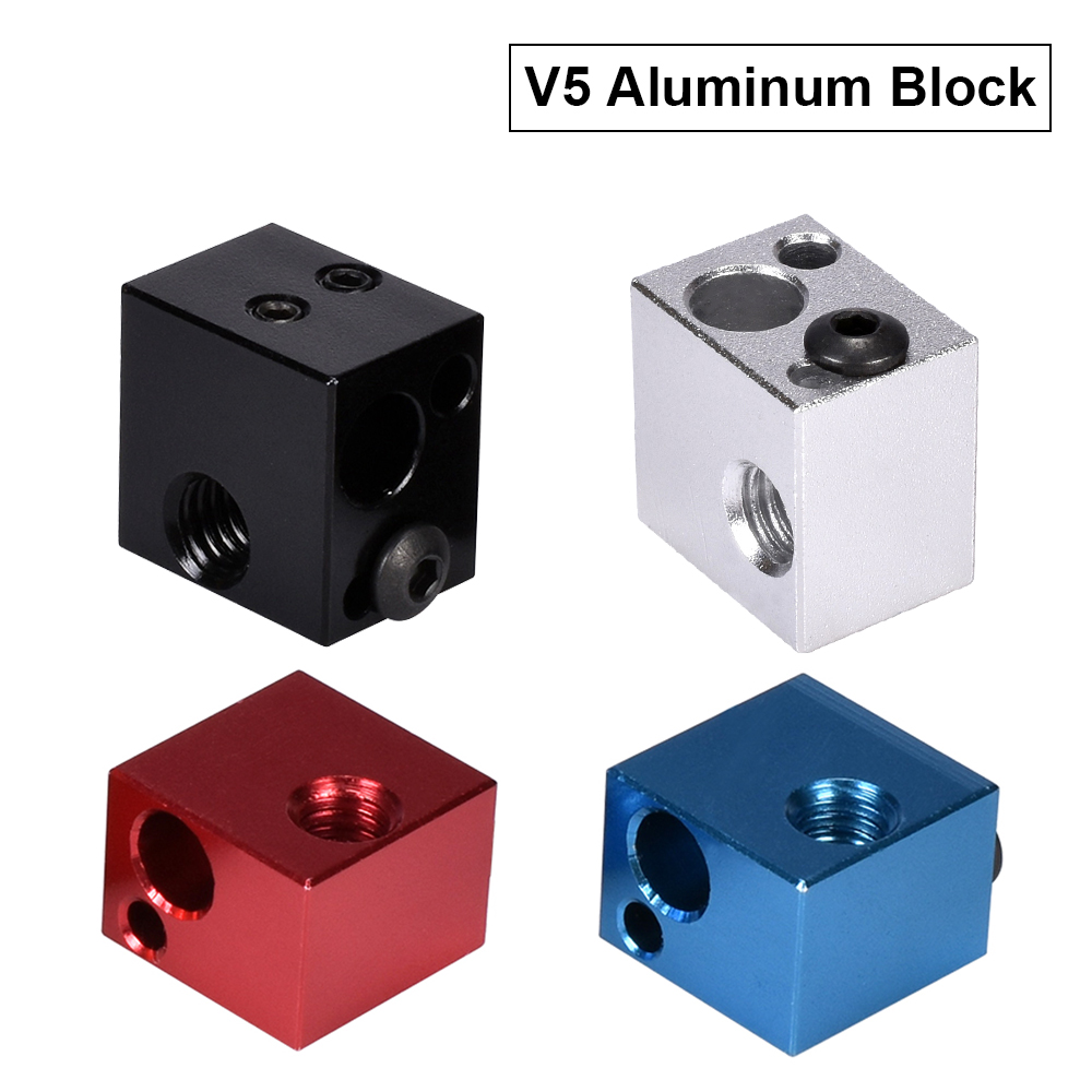High Temperature V5 Heater Block Aluminum Block Silicone Sock 3D Printer Parts VS E3D V6 Block Fit J-head Hotend Bowden Extruder