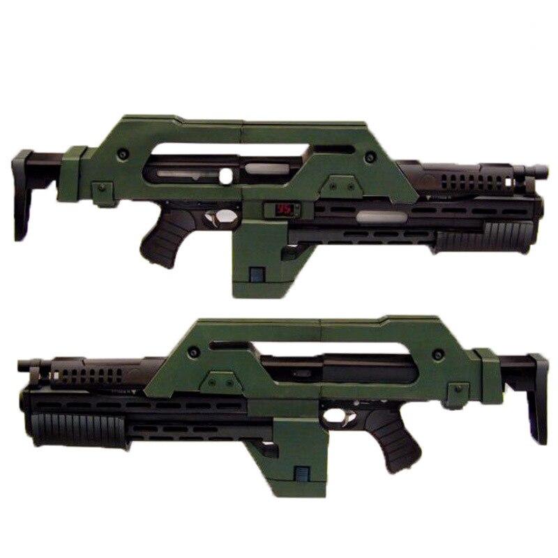 85cm M41-A  Pulse Rifle Mesh  Gun Model DIY 3D Paper  Card Model Building Sets Construction Toys Educational Toys Military Model