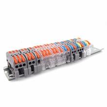 Conector de fio, conector de fio PCT-211 universal, rápido, compacto, trilho din, cabo elétrico, lâmpada led, condutor de fiação, bloco terminal