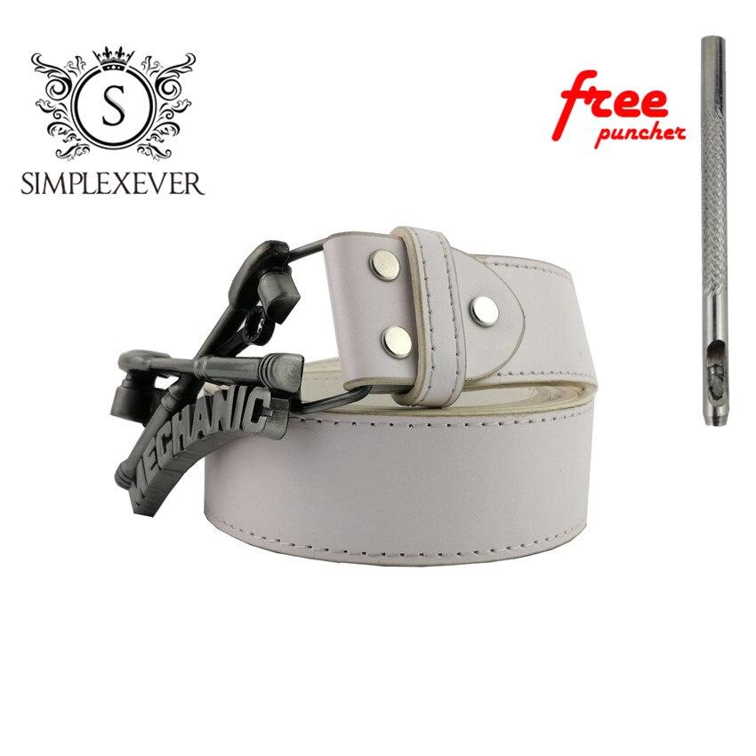 Silver Mechanic Belt Buckle Western Metal Belt Buckle for Mens Belt Buckle with With Belt