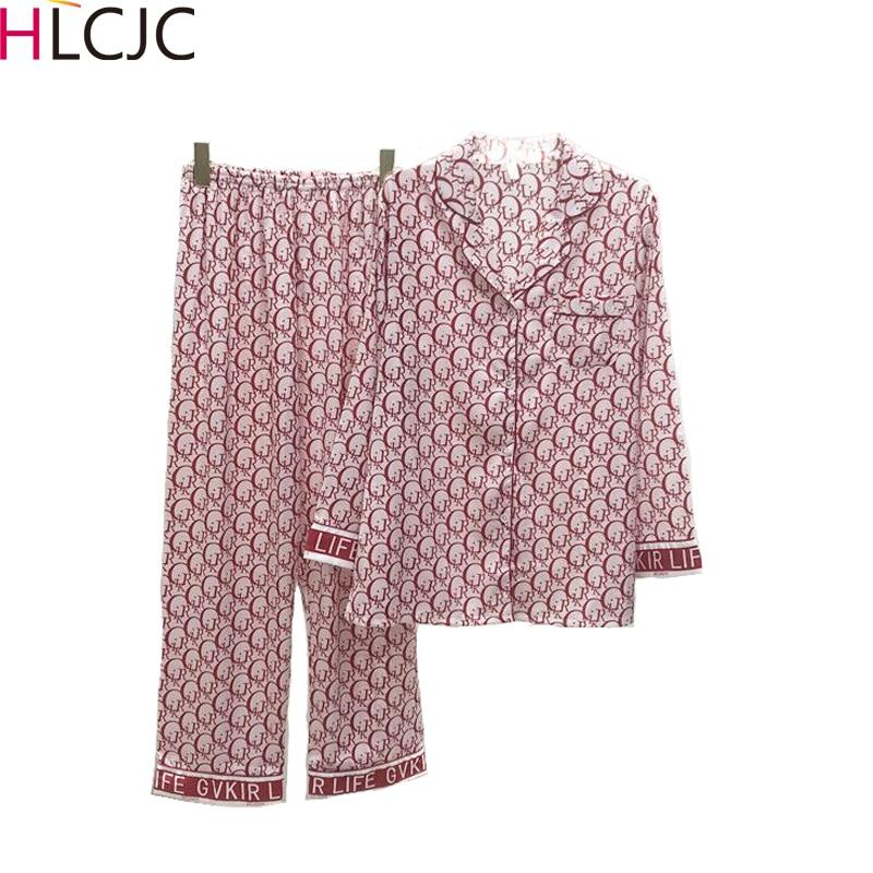 Women Silk Pajama Sets Satin Pyjama Sleepwear Long Sleeve Large Size Fashion Pajamas for Girl Nightwear Suit Home New Style 2020|Pajama Sets| - AliExpress