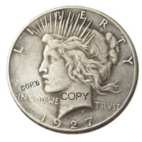 Date 1927 Peace Dollar Silver Plated Copy Coin