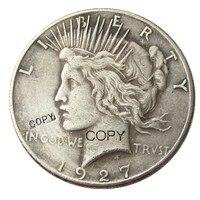 Fecha 1927 Moneda de copia chapada en plata de dólar de la paz Monedas sin curso legal Hogar y jardín -
