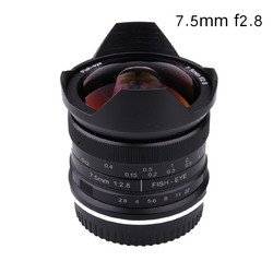 7.5mm f2.8 fisheye lens 180 APS-C Manual Fixed Lens For Canon  EOS-M Mount CameraHot Sale Free Shipping