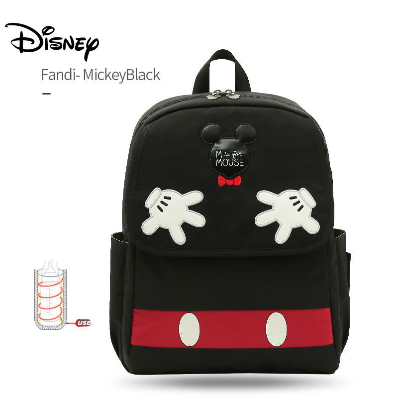 Disney Mickey Usb Baby Diaper Bag Backpack Maternity Baby Bags For Mom Multifunctional Stroller Bag Large Capacity For Mommy Bag
