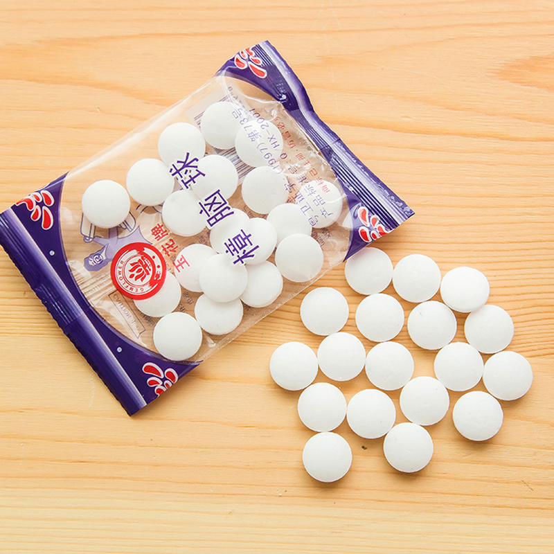2019New 20pcs/bag Natural Mothballs Anti-mold Moth Repellent Camphor Ball Pest Control Wardrobe Drawer Deodorizer
