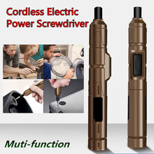 Electric-Screwdriver Drill-Bits Battery-Power Mobile-Phone Mini Dc 3.6v NEW with 10pcs