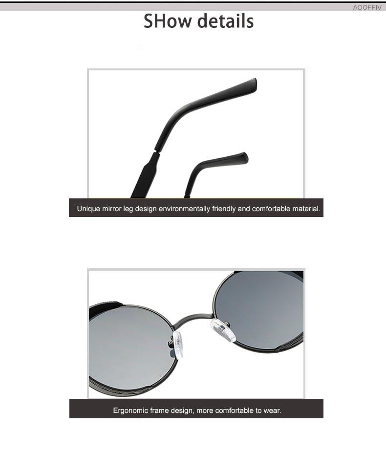 Classic Gothic Steampunk Sunglasses Vintage Round Glasses