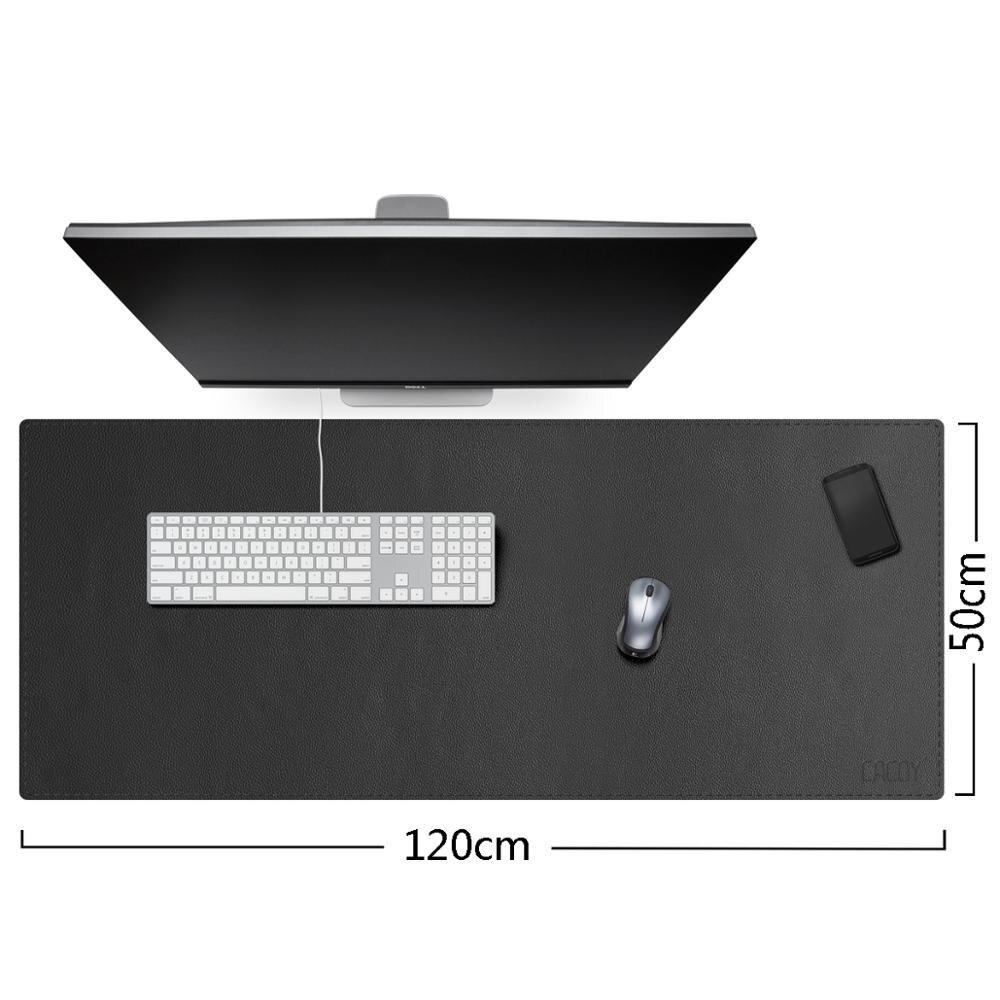 Almofadas de Mesa de Couro do Plutônio Blotter à Prova Esteira de Escrita de Mesa para o Escritório e Uso Dextra Água Gaming Mouse Pad Extra Grande Perfeito Doméstico 120x50cm