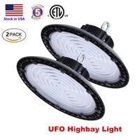 UFO LED HighBay Lights 100W 150W 200W LED Industrial UFO Lighting Led warehouse exhibition lighting 130lm/w ETL 5Years Warranty
