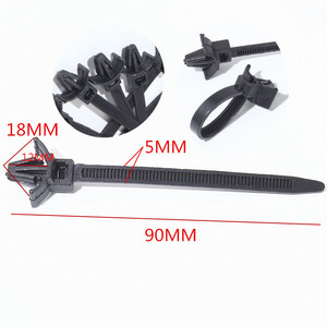 Image 2 - QFHETJIE 15 Pcs Wire Harness Fastener Cable Ties Management Tie Line For Car Corrugated Pipe Tie Wrap Cable Clamp Clips