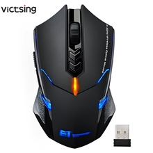 VicTsing Беспроводная игровая мышь 2400 dpi эргономичные ручки 7 кнопок дыхательная подсветка уникальная Бесшумная Беспроводная игровая мышь