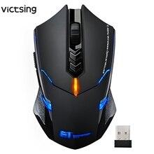 VicTsing souris de jeu sans fil 2400 DPI poignées ergonomiques 7 boutons respirant rétro éclairé Unique clic silencieux souris sans fil de jeu