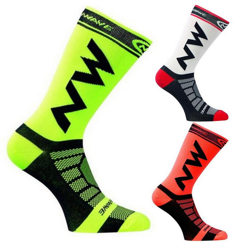 1Pair Men Sports Socks Riding Cycling Basketball Running Sport Socks Breathable Hiking Tennis Ski Man Women Marathon Socks