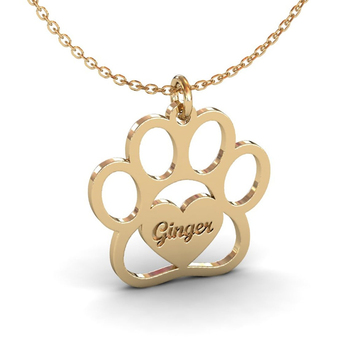 Cute Cat Paw Name Necklace Best Gifts Heart Pendant Personalized Dog Bear Footprint Engraved Jewelry Women Child her jewellery cute small bear pendant necklace best fashion pendant made with crystals from swarovski hp0538