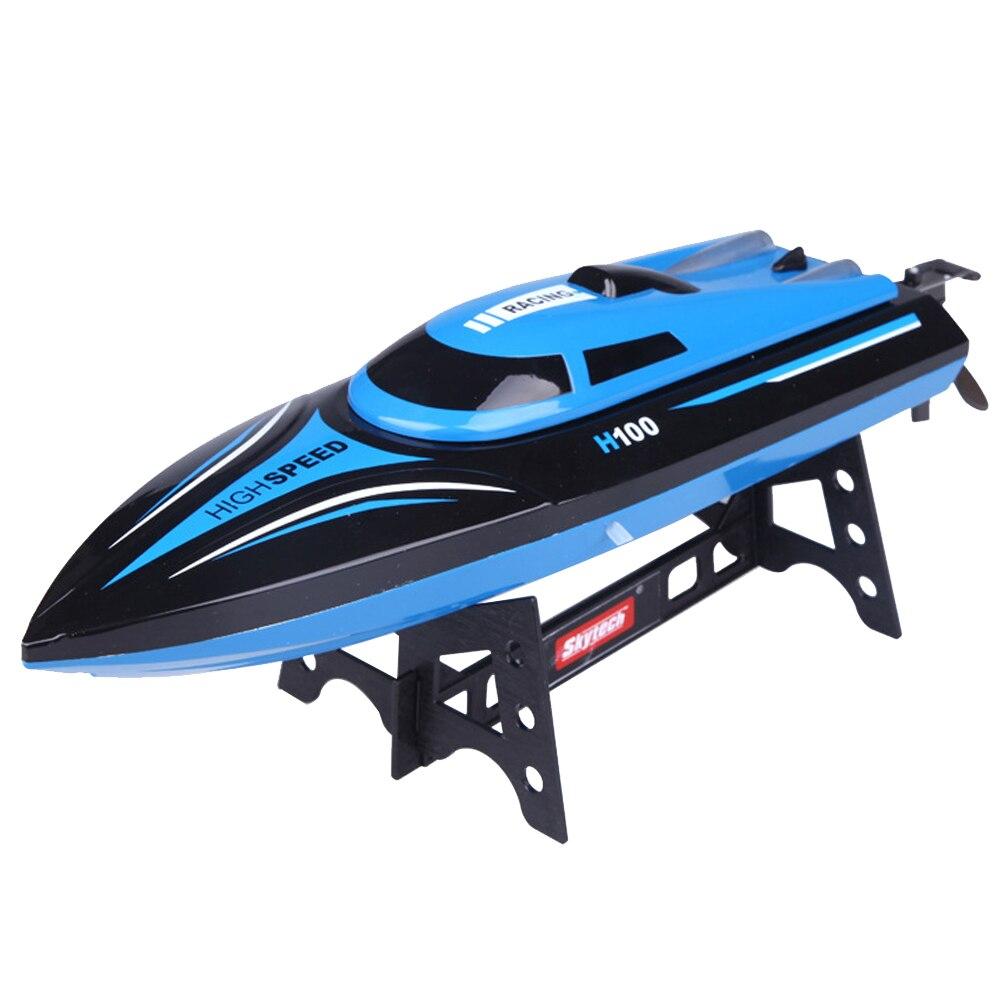 H100 opération facile Mini jouet ABS avec écran LCD à grande vitesse 4 canaux enfants course cadeau électrique RC bateau
