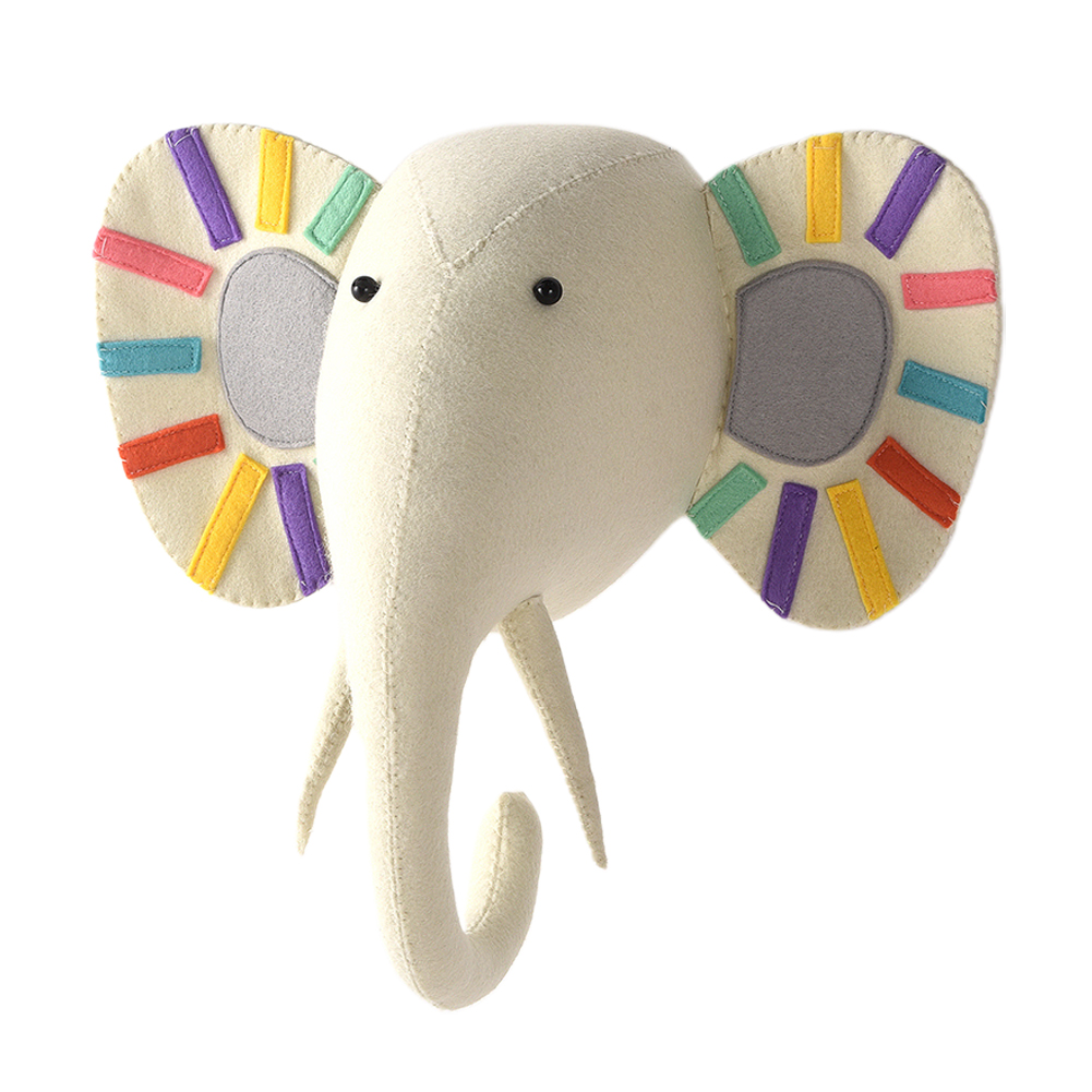Hanging Decoration Cute Craft Nursery Art 3D Bedroom Gifts Home Kids Room Animal Head Wall Ornament Dolls Cartoon|Statues & Sculptures| |  - title=