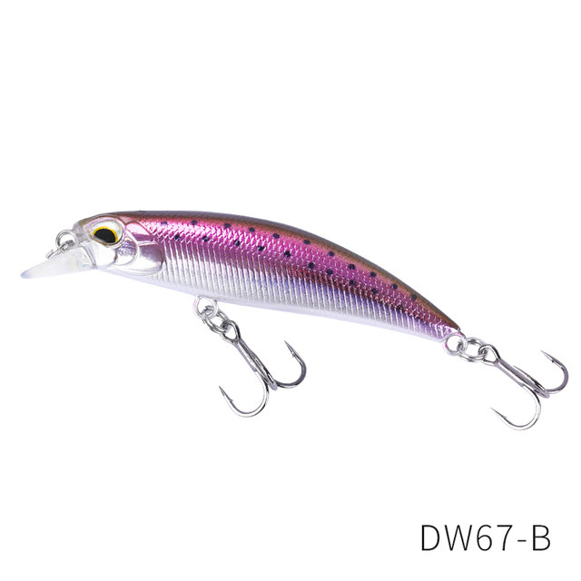 TSURINOYA New Fishing Lures Sinking Minnow 60S DW67 60mm 6.1g Bass Pike Mini Minnow Crank Wobbler Model Crank Hard Baits model