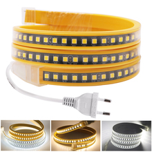 220V 4040 LED Strip Black PCB High Brightness 120LEDs/m Flexible LED