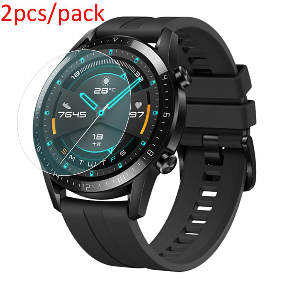 2Pack For Huawei Watch GT 2 (46mm) Tempered Glass Screen Protector 9H Scratch Proof Explosion-Proof Smartwatch Protective