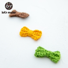 Let's Make 10PC Bow Tie Crochet Beads DIY Baby Teether Toy Gift Teething Soft