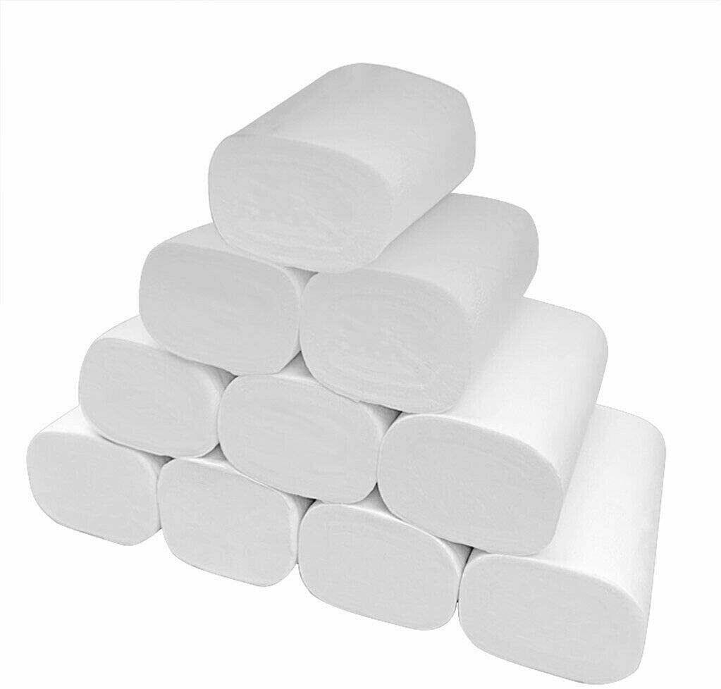 12 Rolls Three Layer Toilet Tissue Toilet Paper Roll Home Hotel Restaurant Bathroom Washroom Soft Tissue Roll Wood Pulp Paper