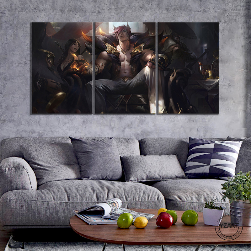 League Of Legends Sett Poster Modern Home Wall Decor Canvas Picture Art HD Print Painting On Canvas Artwork 3