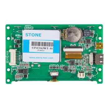 4.3 Inch HMI TFT LCD Display Module with RS232/RS485/TTL for Equipment Use