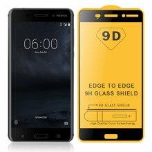 JONSNOW 9D закаленное стекло для Nokia 6 5,5 дюймов стекло на Nokia 6 TA-1021 полноэкранное защитное стекло 9H Взрывозащищенная пленка
