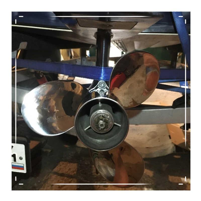 Perahu Motor Stainless Steel Baling-Baling 9 1/4X11-J untuk Yamaha 9.9Hp 15Hp Mesin Tempel 9 1/4X11-J 63V-45943-10-00 63V-45943-00