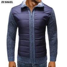New Arrival Mens Sweaters for 2019 Warm Wool Collar Winter Sweater Men Casual Zipper Coat Male Parka Coats