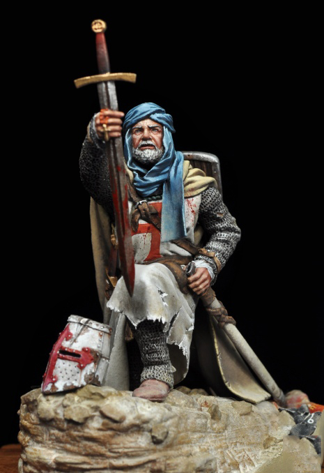 1/24 75mm  Ancient Man Warrior Sit (WITH BASE )Resin Figure Model Kits Miniature Gk Unassembly Unpainted
