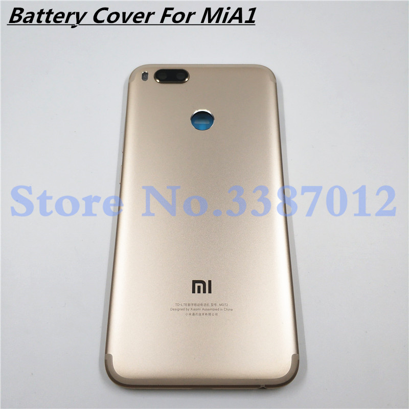 New <font><b>Battery</b></font> Door 5.5'' For <font><b>Xiaomi</b></font> <font><b>MiA1</b></font> Mi A1 5X Back Cover Housing Case With Power Volume Buttons + Camera lenses image