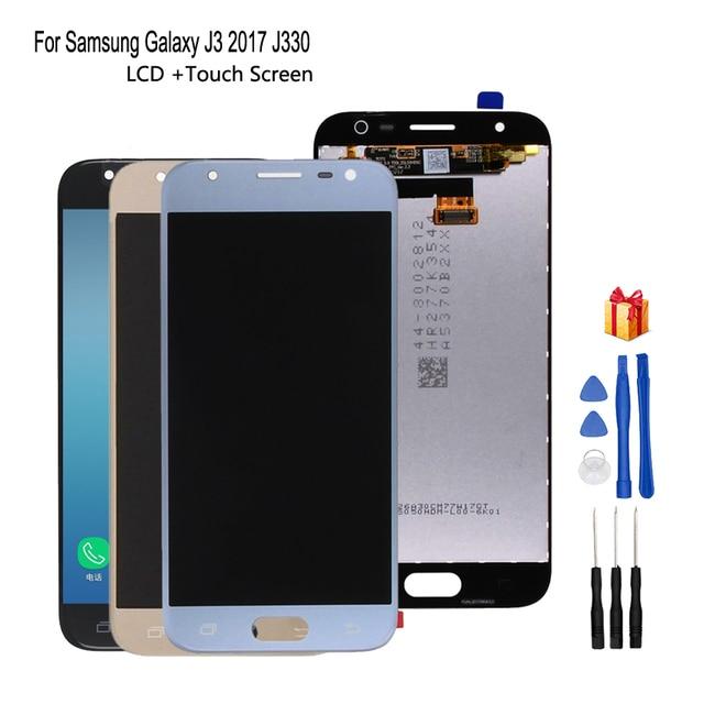 Original สำหรับ Samsung Galaxy J3 2017 J330 จอแสดงผล LCD Touch Screen Digitizer สำหรับ Samsung J330F SM J330F อะไหล่ซ่อมเครื่องมือฟรี