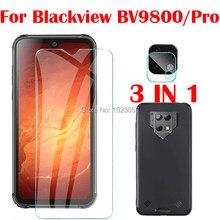 3-em-1 caso + câmera de vidro temperado para blackview bv9800 6.3 protetor de tela de vidro para blackview bv9800 pro