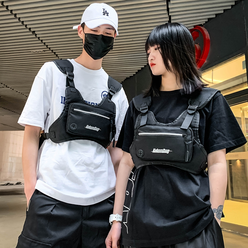 Men Chest Rig Bags For Women Hip Hop Streetwear Waist Bags  Tactical Vest Male Tactical Chest Bag Casual Fanny Pack Phone Pocket