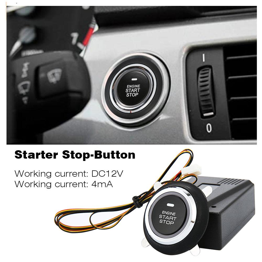 New 12V Auto Car Alarm Start Stop Button Engine Push Starter Auto Ignition Starter for Improving Driving Safety Antitheft System