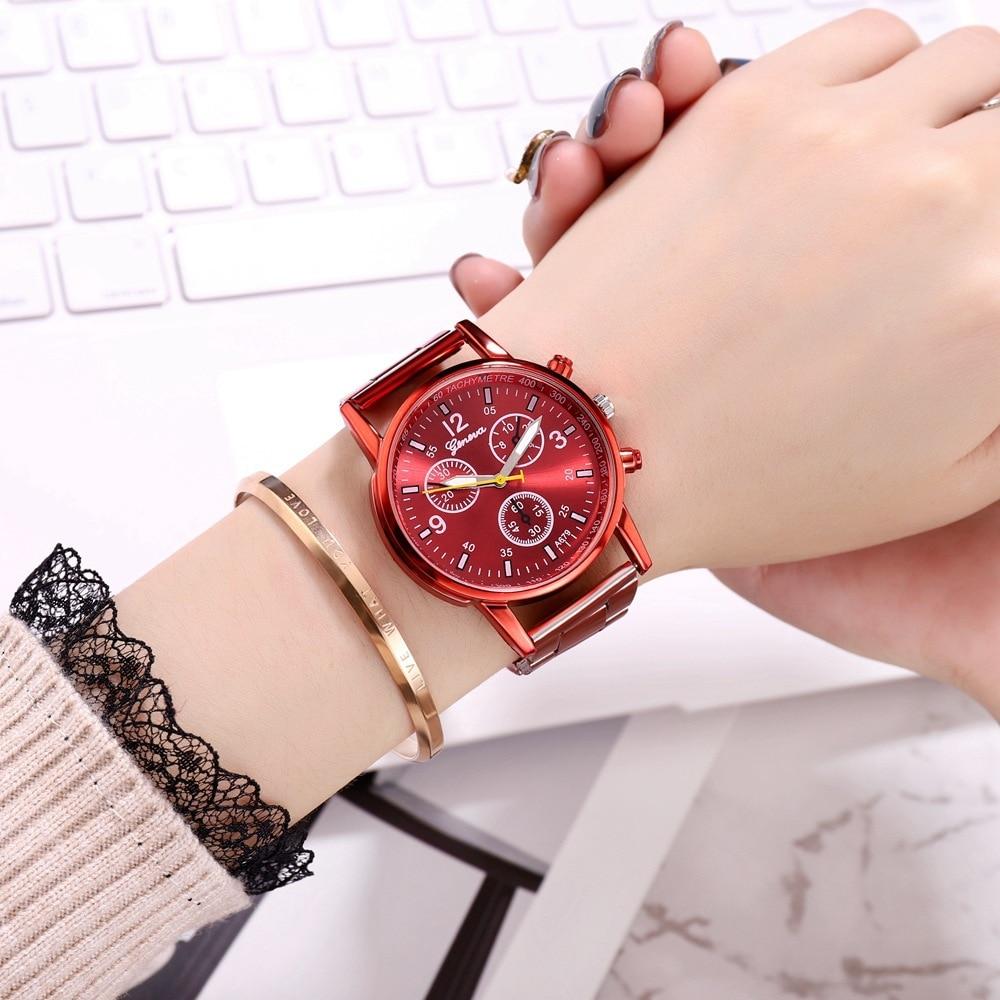 Ladies Fashion Red Wrist Watch Women Watches Luxury Top Brand Quartz Watch Style Female Clock Relogio Feminino Montre Femme