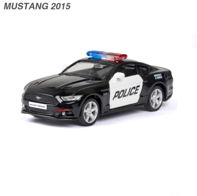 New 1:36 Dodge MUSTANG F150 POLICE Alloy Car Model Diecasts & Toy Vehicles Toy Cars Educational Toys For Children Gifts Boy Toy