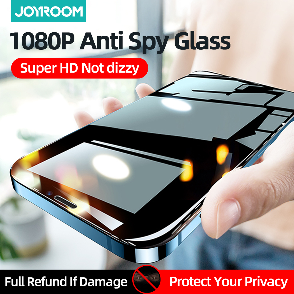 Joyroom Privacy Screen Protector Voor Iphone 12 11 Pro Max Mini Anti Spy Gehard Glas Film Volledige Dekking Voor Apple X Xs Max Xr